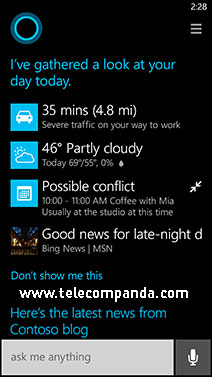 cortana possible conflicts windows phone 8.1